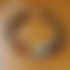 """Bracelet homme """"7 chakras"""" en pierres de gemmes, argent 925 et argent plaqué hq"""