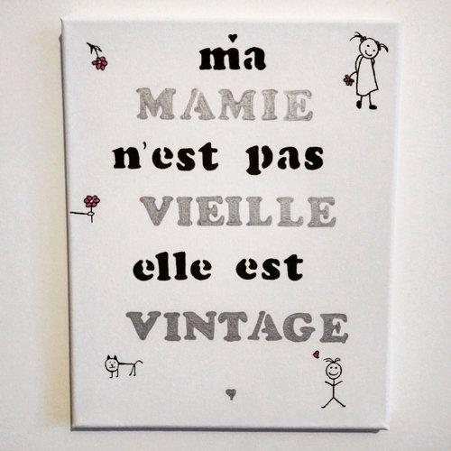 """Toile """"mamie vintage """""""