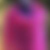 Châle tricot dentelle, chèche en alpaga et soie, foulard laine points ajourés, cape fait main, chauffe épaules cassis