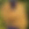Châle dentelle mohair soie, étole rectangulaire, poncho tricoté main, cape mariée, chauffe épaules foulard laine ton doré jaune curry