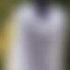 Châle tricot laine alpaga, étole dentelle fait main, poncho chèche mariée, grande cape ajourée, longue écharpe mariage, foulard blanc