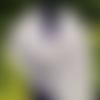 Etole dentelle mohair soie, écharpe tricot fait main, châle mariage tricoté, cape nuptiale, chauffe épaules mariée blanc nacré