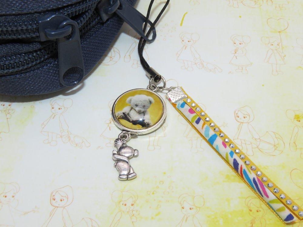 Bijou de sac, attache portable, attache clé USB ourson