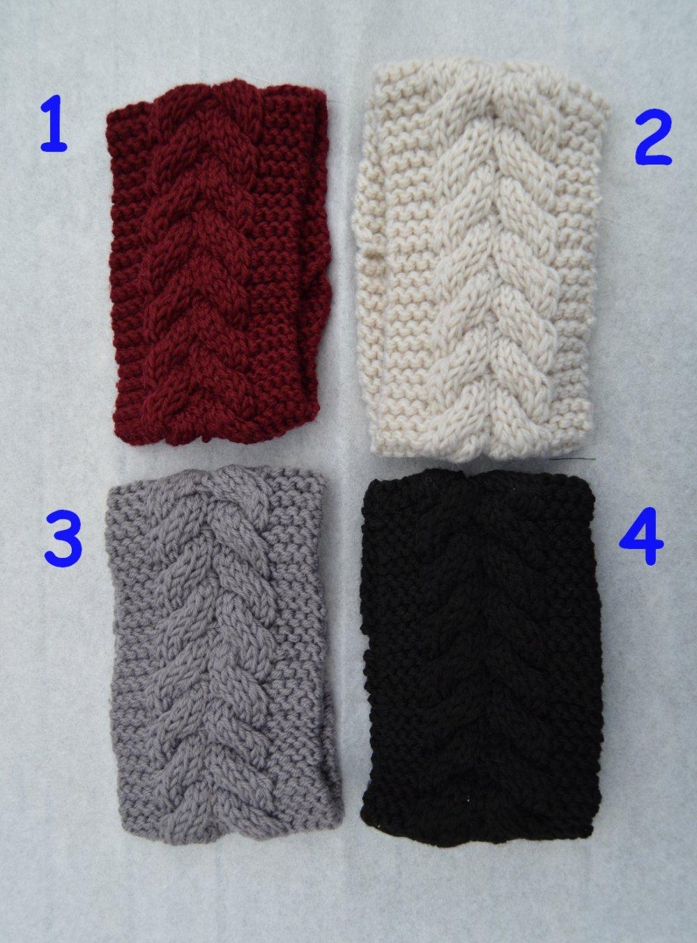 bandeau , serre tete, cheveux, femme, tricot noir ou  coloris au choix