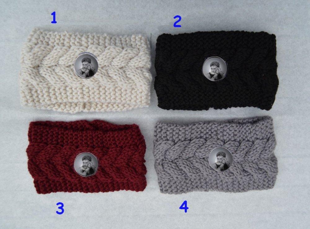 bandeau , serre tete, cheveux, femme, tricot noir , gris , bordeaux, beige ou  coloris au choix, johnny