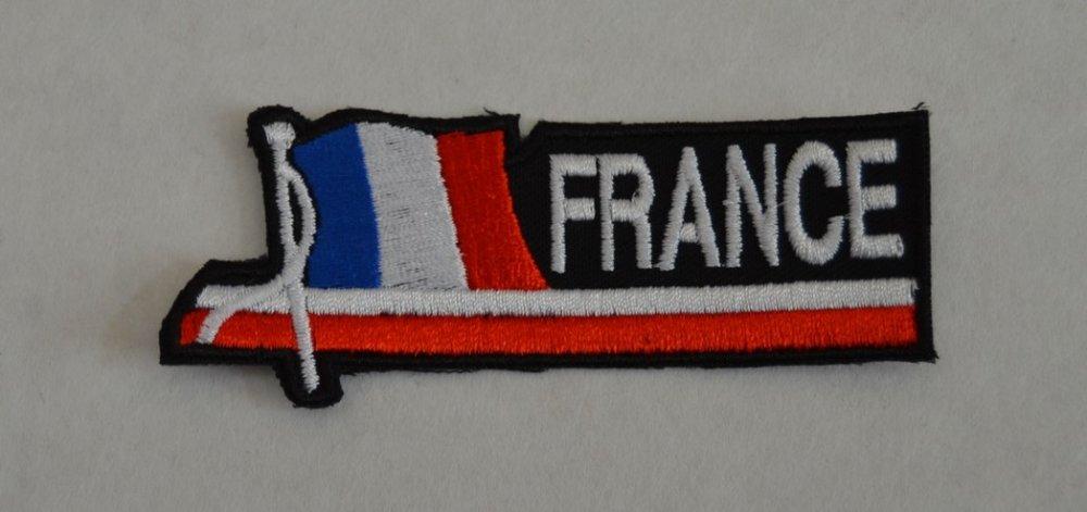 patch, écusson, drapeau francais, thermocollant, 9/3cm