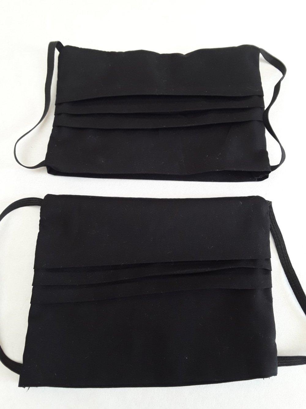 Masque visage,, protection, noir, avec poche filtre, protecteur pour visage adulte en coton - lavable, réutilisable, ( lot 2 piéces )