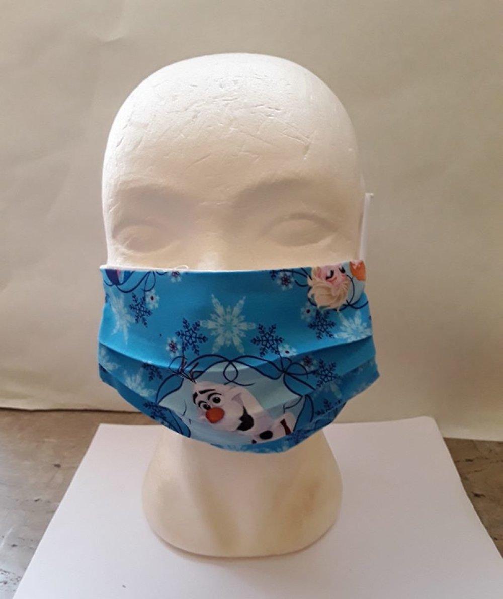 Masque de visage, REINE DES NEIGES ,coton, masque filtrant, poche, filtre , réutilisable, coton , lavable ,(lot 2 masques )