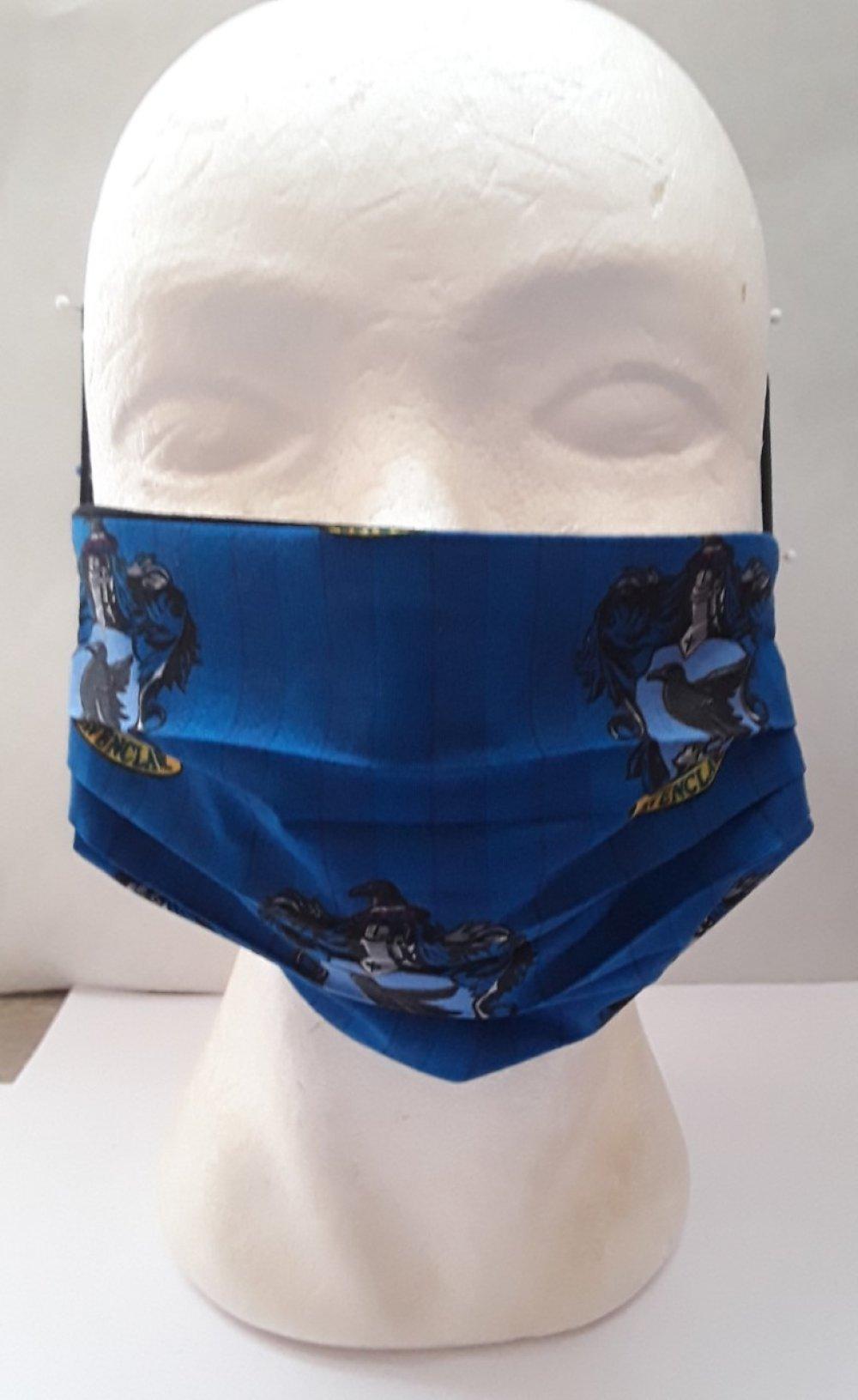 Masque de visage harry potter, l'école Poudlard , coton , masque filtrant, poche, filtre , réutilisable, coton , lavable , 2 masques