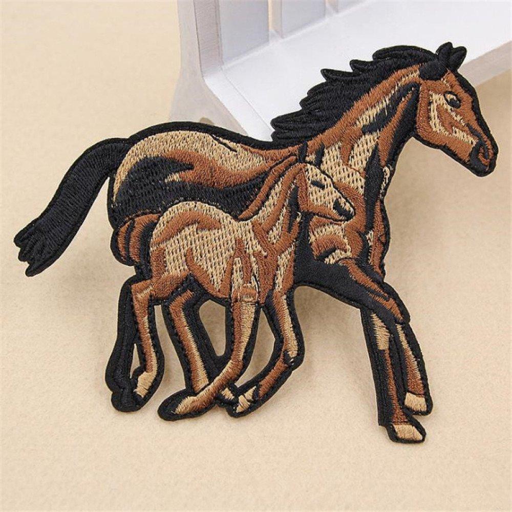 écusson , patch , thermocollant chevaux ,12/10cm