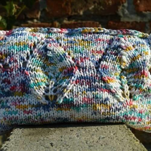 Trousse en tricot multicolors