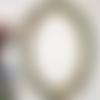 Cadre ancien ovale guirlande de fleurs - ambiance shabby chic, romantique, vintage - patine verte et dorée