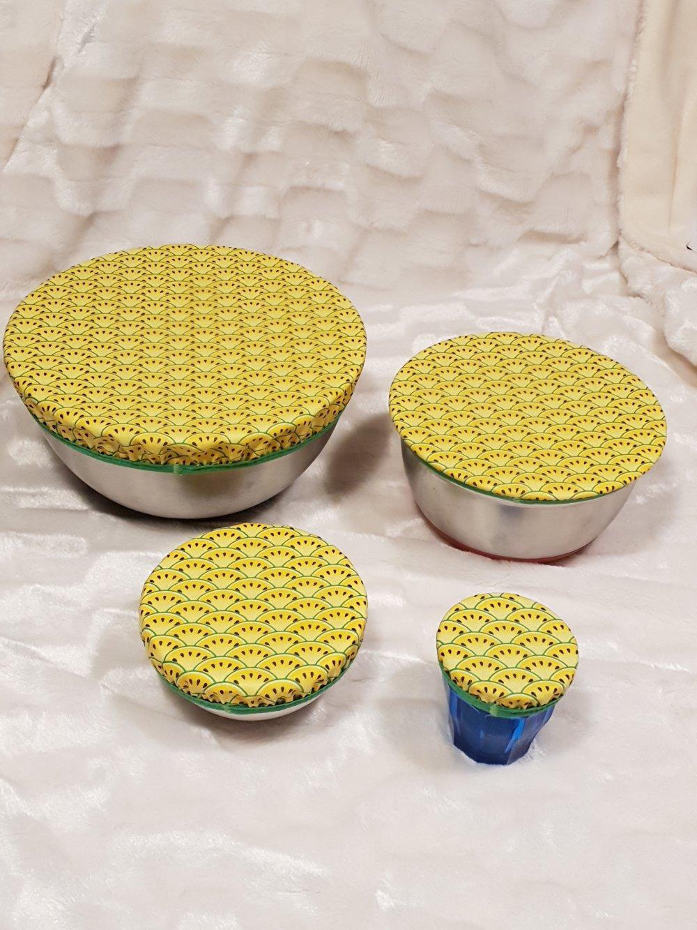 lot de 4 couvres plat ou charlottes à plat lavables