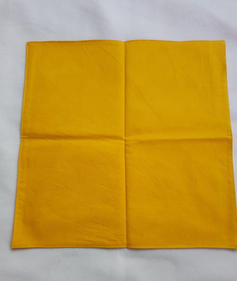 """Serviette de table lavable en coton """"jaune/blanc"""""""