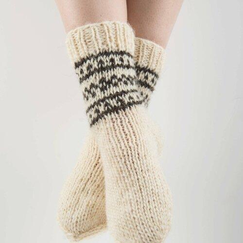 Chaussettes tricotées à la main 100% laine naturelle pour femme taille 36-39