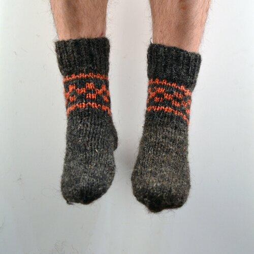 Chaussettes tricotées à la main 100% laine naturelle pour homme taille 40-42