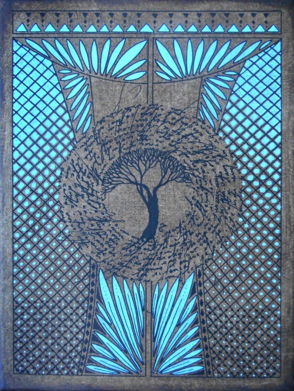 Peinture arbre - Calligraphie - La maison du Diwan - 15 - Tableau mandala
