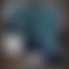 Grand châle crochet multicolore, accessoires, cadeau femme, châle granny avec pompons
