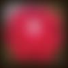 Napperon crochet rouge et blanc 38 cm