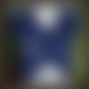 Boléro femme crochet bleu taille 36, gilet, pull femme