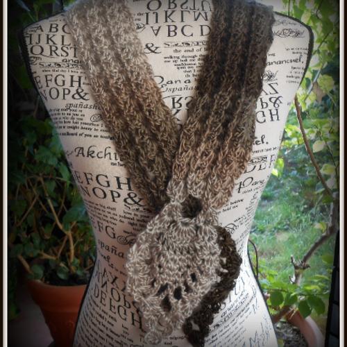 Tour de cou crochet, foulard, écharpe bijou
