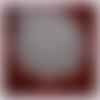 Napperon crochet blanc, rouge 52 cm, décoration table, centre de table crochet