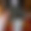 Bonnet casquette femme crochet multicolore marron