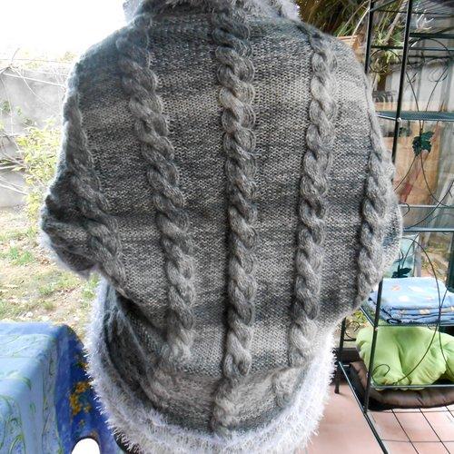 Gilet Femme Crochet Multicolore 36 38
