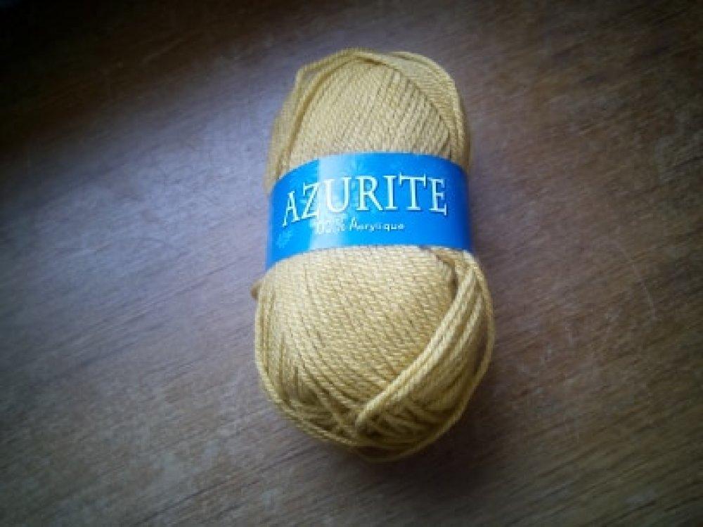 Laine moutarde Azurite