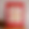 Carte  rouge et beige pour la  saint valentin