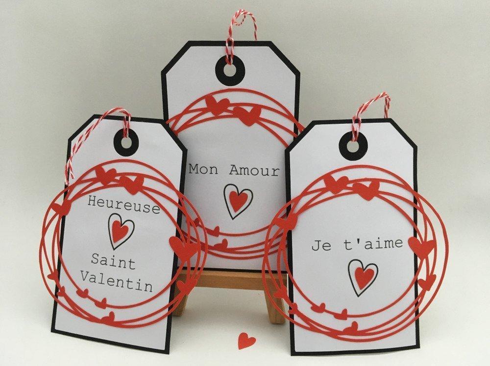 Carte étiquette de Saint Valentin