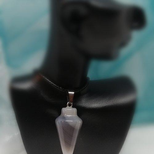 Collier pendentif pierre naturel