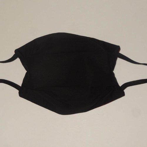 Masque en tissu lavable noir adulte; filtration maximale
