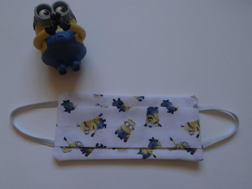 Masque en tissu lavable enfant Les Minions