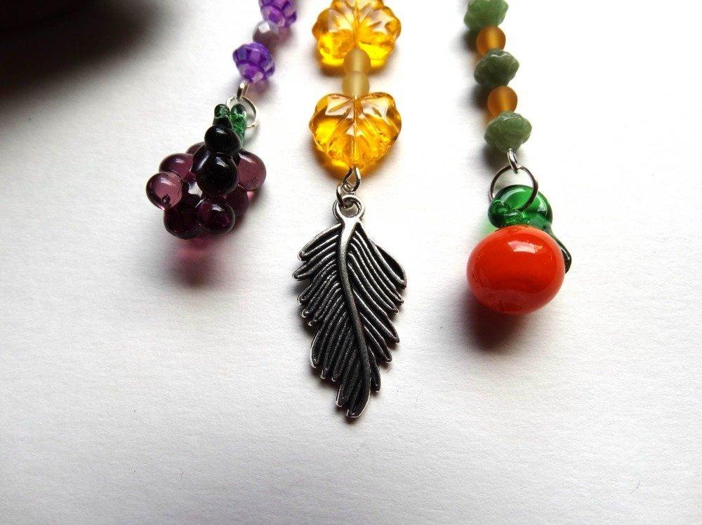 Fête des mères - Bijou de sac porte clés multicolore été fruits lampwork perles tchèques / idée cadeau femme, Noël, Saint Valentin