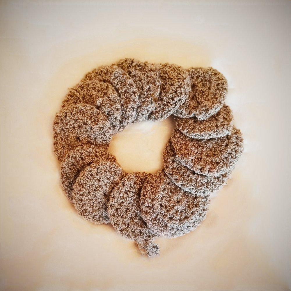 Lingette  demaquillante au crochet, coton lavable, lingette bébé