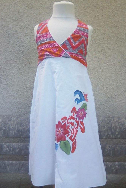 Jolie robe fillette en coton