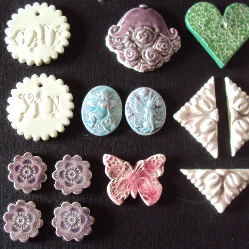 13 pièces en céramique