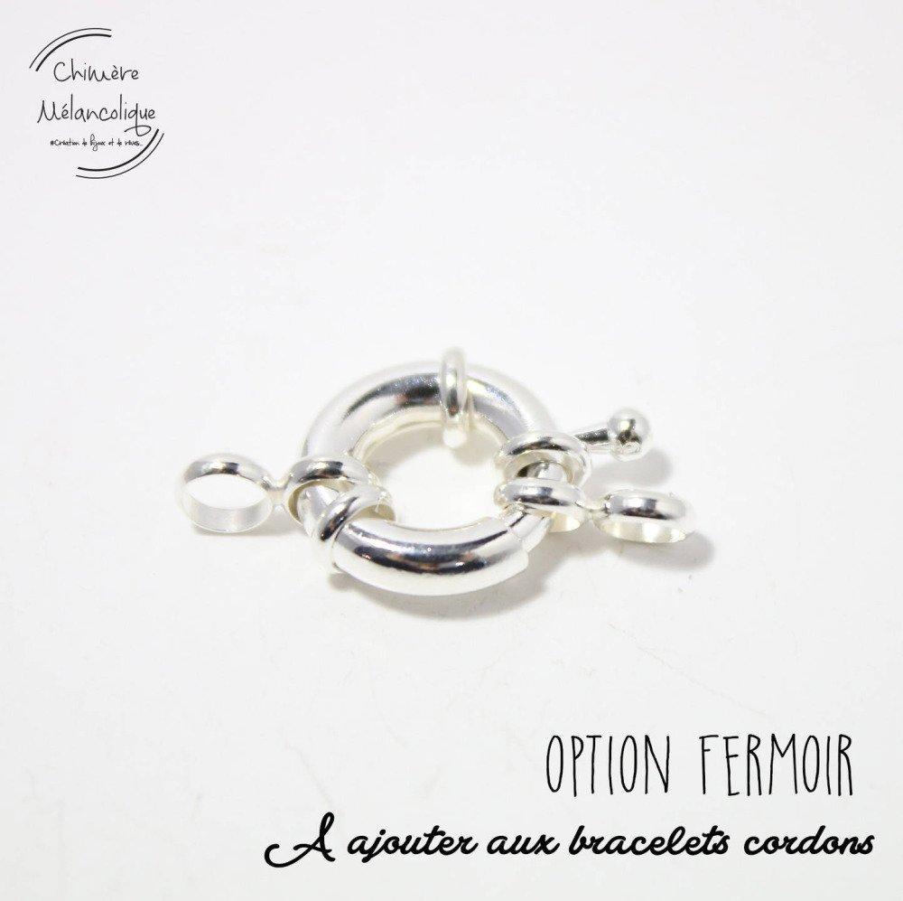 OPTION - Fermoir pour Bracelet Liberty Chimère Mélancolique M8