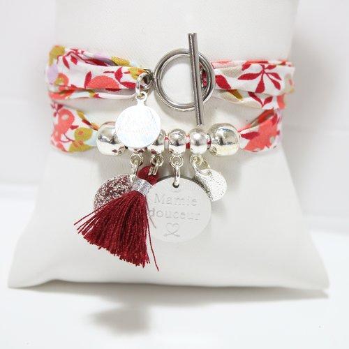 Bracelet personnalisé enjoy liberty avec gravure sur mesure