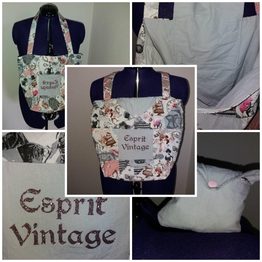 "Sac shopping pliable motif ""Vintage"""