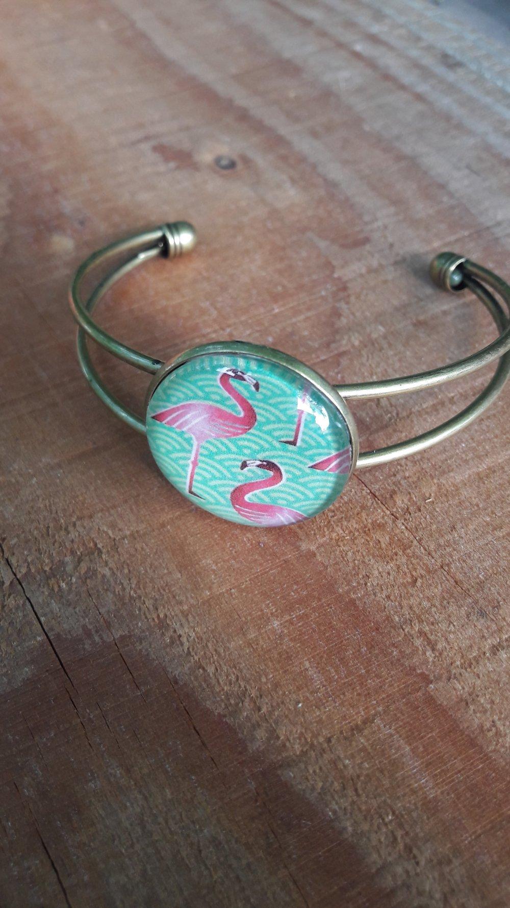"""Puces d'oreilles """"Flamingo """""""