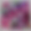 Serviette en papier mandala, rond ,violet  ,rose