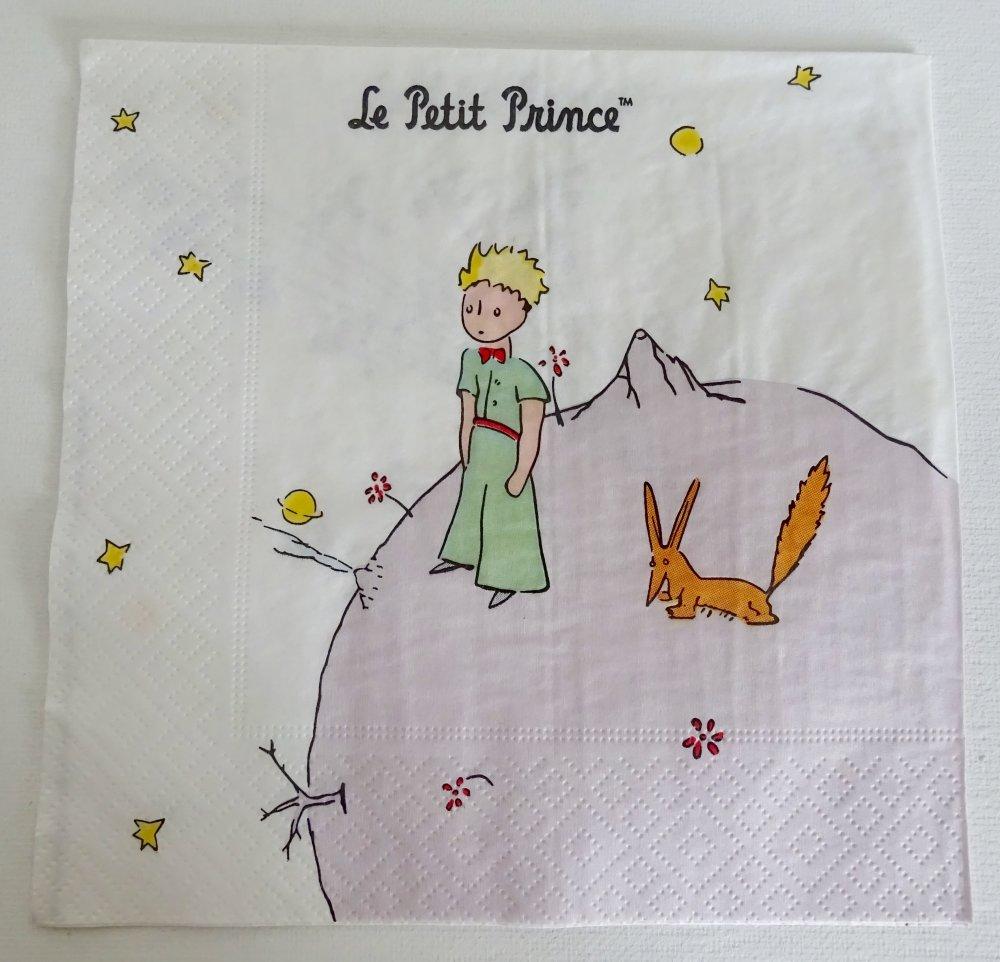 Serviette en papier petit prince,renard