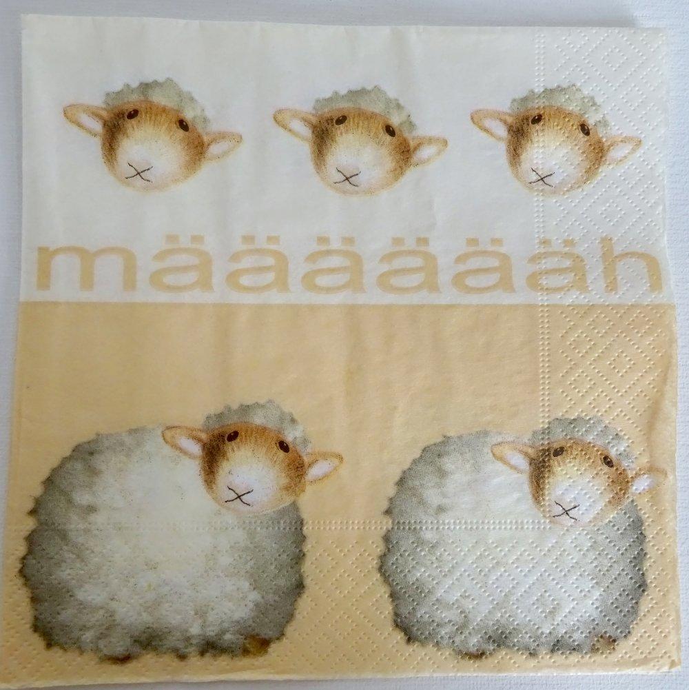 Serviette en papier mouton