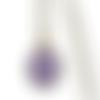 Collier, mi-long, pendentif * marrakech * maroc, mosaïque, ethnique, bleu, bronze, collier cabochon, femme, idée cadeau noël
