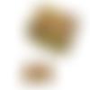 Boucles d'oreilles, pendantes + coffret assorti * fleurs wax * africain, ethnique, coloré, jaune, orangé, argenté, boucles gouttes, femme
