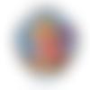 Miroir de poche, rond * pin-up girl * rétro, vintage, années 50, pin-up, américaine, bleu, pois, résine, rockabilly, miroir de sac,