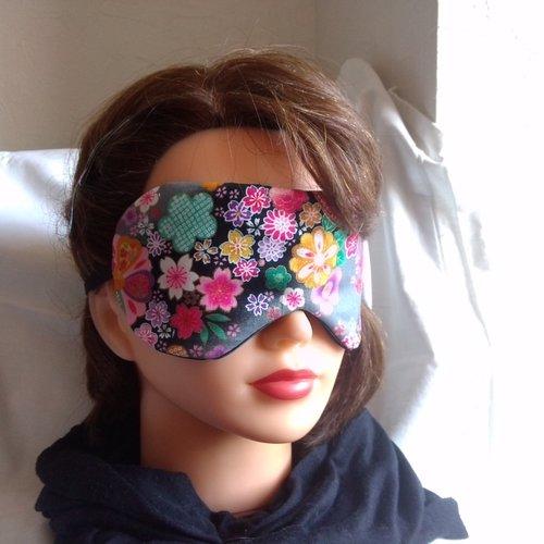 Masque de nuit ou masque de sommeil, protection lumière - tissu japonais