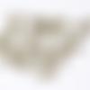 10 breloques pelote de laine et ses aiguilles en métal bronze